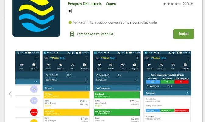 Aplikasi Pantau Banjir Jakarta