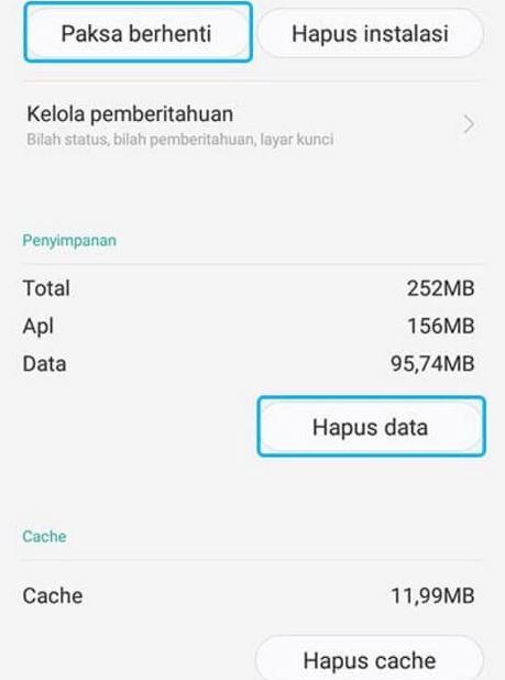 Cara Mengatasi Sayangnya Aplikasi Telah Berhenti dengan Hapus Data