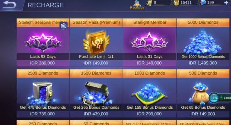 Situs Beli Diamond Mobile Legend dengan Pulsa Termurah