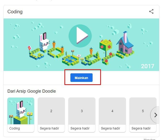Cara Bermain Game Google Doodle