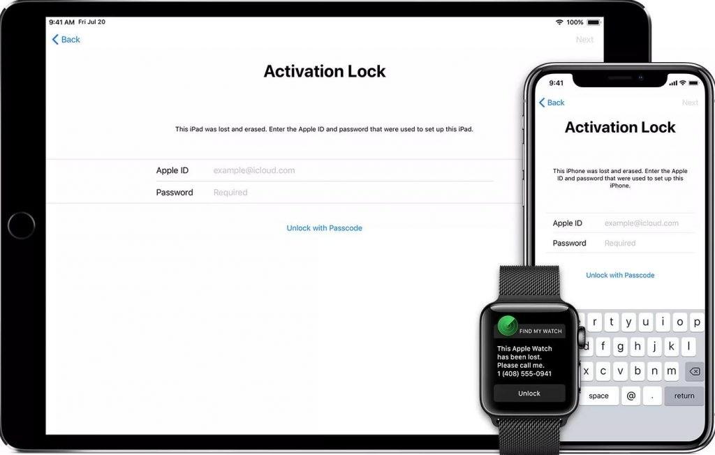 gambar Cara Unlock iPhone yang Terkunci iCloud  - Activation Lock screen